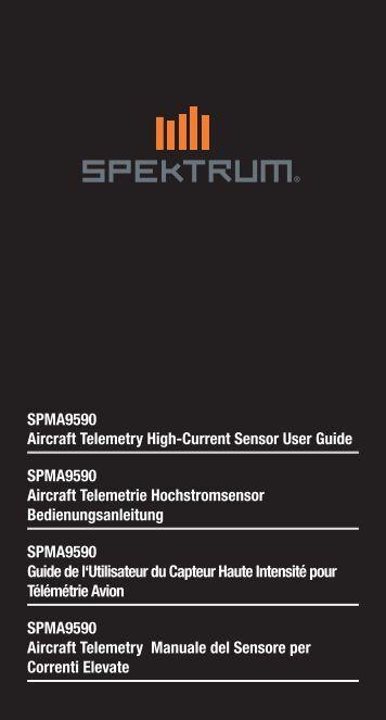 SPMA9590 Aircraft Telemetry High-Current Sensor User ... - Spektrum