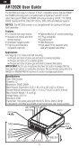 AR12020 User Guide AR12020 Bedienungsanleitung ... - Spektrum - Page 6