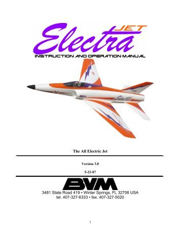 Instruction and Operation Manual - Esprit Model
