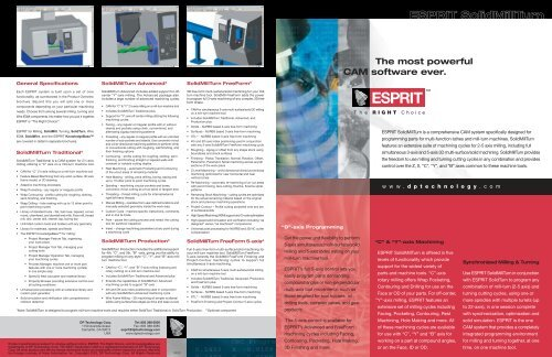 SolidMillTurn Brochure - Chicago CAD CAM Software