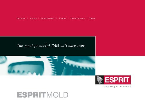 ESPRIT 3D Mold and 5-axis - Chicago CAD CAM Software