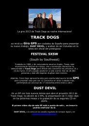 Concierto del grupo Track Dogs