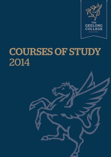 years 11 and 12 (vce studies) - Geelong College