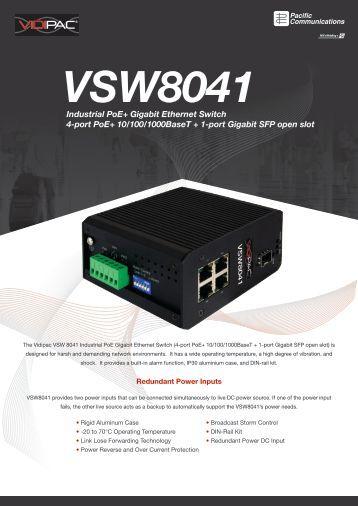 Industrial PoE+ Gigabit Ethernet Switch 4-port PoE+ 10/100 ...
