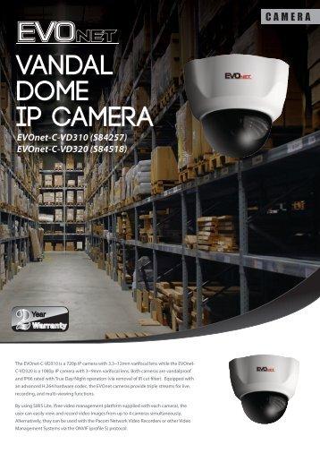 EVOnet Vandal Dome IP camera