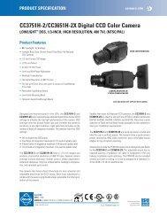 CC3751H-2/CC3651H-2X Digital CCD Color Camera