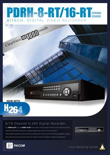 8/16CH. DIGITAL VIDEO RECORDER - Pacific Communications