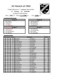 F-Jugend-Kleinfeldturnier - SV Hönisch