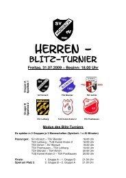 Ausschreibung Herren-Turnier 2009 neu - SV Hönisch