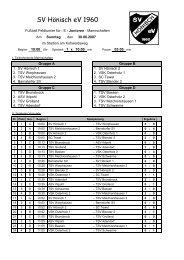 E-Jugend-Kleinfeldturnier - SV Hönisch