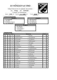 B-Jugend-Turnier - SV Hönisch