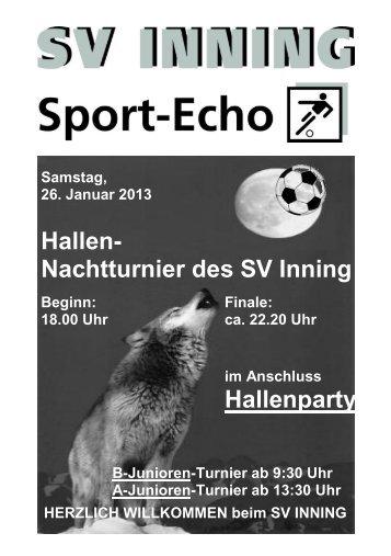 Hallen - SV Inning am Ammersee