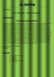 18. Spieltag - SV Moosbach