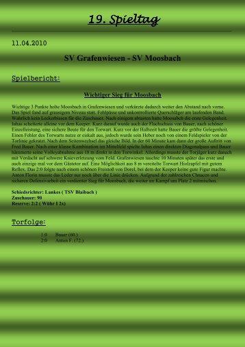 19. Spieltag - SV Moosbach