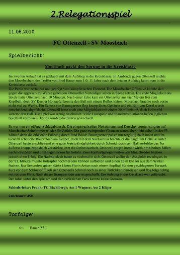 2.Relegationsspiel .Relegationsspiel ... - SV Moosbach