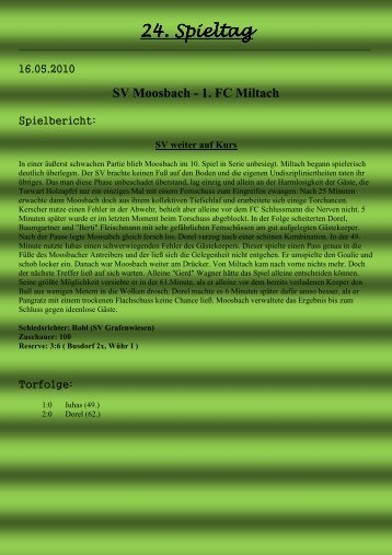 24. Spieltag - SV Moosbach