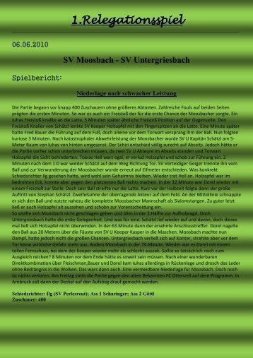 1.Relegationsspiel 1.Relegationsspiel - SV Moosbach