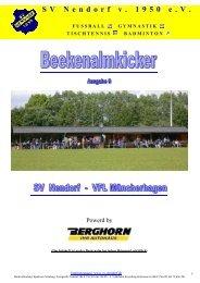Ausgabe Nr. 9 - SV Nendorf