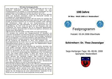100 Jahre BLAU – WEISS 1908 e - SV-Niederelbert