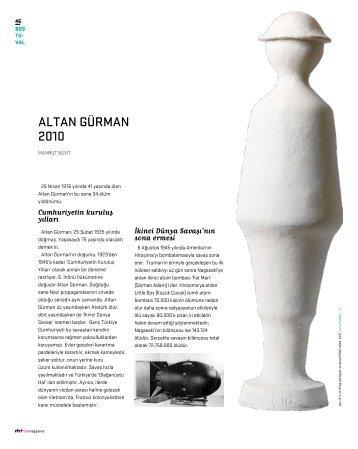 ALTAN GÜRMAN 2010