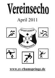 April 2011 - Sportverein Rhumspringe e.V. von 1907