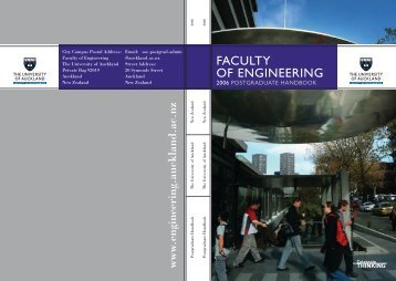 Faculty of Engineering - The University of Auckland