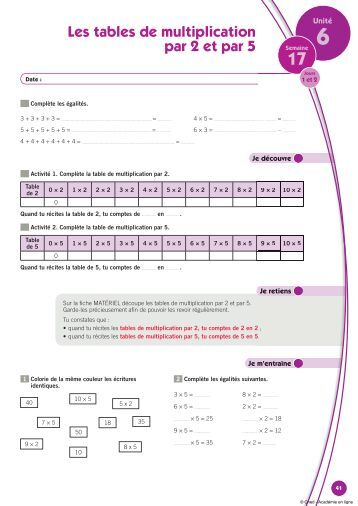Nombres de 0 1000 quadrillages dur es longueurs for Les tables de multiplication en ligne