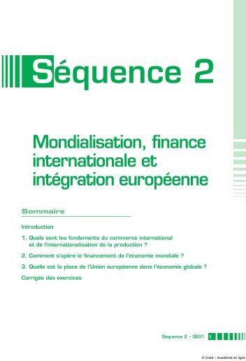 Mondialisation, finance internationale et intégration européenne