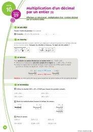 Nombres décimaux. Multiplication. Division. Cercle. Problèmes.