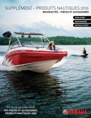 yamaha accessoiries marine catalog - aqua services
