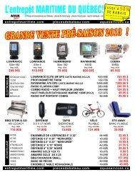 GRANDE VENTE PRÉ-SAISON 2013 ! - aqua services