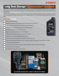 "Long Term Storage ""Winterization"" Checklist - Yamaha Outboards"