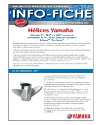 Hélices Yamaha - aqua services