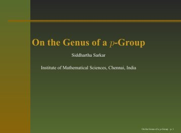 On the Genus of a p-Group - GAP
