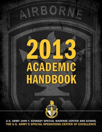 SWCS Academic Handbook - U.S. Army Special Operations ...