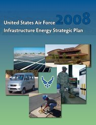 United States Air Force Infrastructure Energy Strategic Plan 2008
