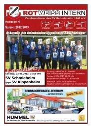 Ausgabe 6, Saison 2012/2013 ab 31.05. - SV Schmieheim