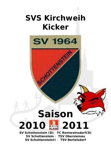 KICKER vom 26.09.2010 Spiel gegen Obersiemau - SV Schottenstein