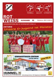 Ausgabe 6, Saison 2011/2012 - SV Schmieheim
