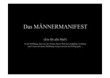 Das MÄNNERMANIFEST - SV Steinheim e.V.