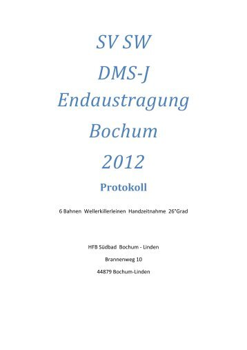 20121028 Protokoll SW DMS-J - SV Bieber