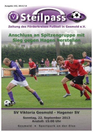 Steilpass Zeitung des Förderkreises Fußball in Gesmold eV