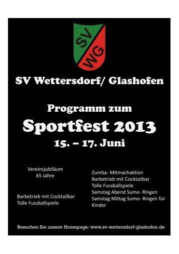 Programmheft Sportfest klein zum Download - SV Wettersdorf ...