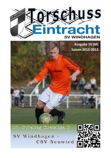 Saison 2012-2013 - SV Windhagen