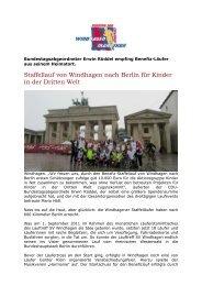 Staffellauf von Windhagen nach Berlin für Kinder in ... - SV Windhagen