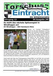 Stadionzeitung - SV Windhagen