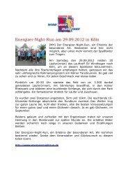 Energizer-Night-Run am 29.09.2012 in Köln - SV Windhagen