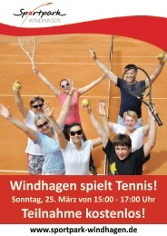 Windhagen spielt Tennis.cdr - SV Windhagen
