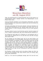 Monschau-Marathon am 08. August 2010 - SV Windhagen