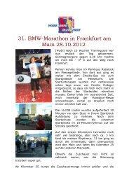 31. BMW-Marathon in Frankfurt am Main 28.10.2012 - SV Windhagen
